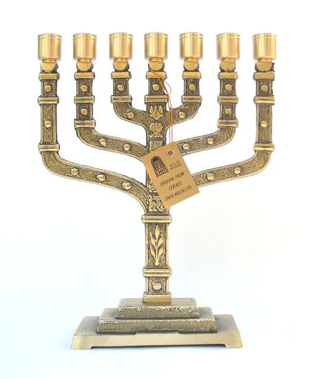 Twelve Tribes 7 Branch Menorah