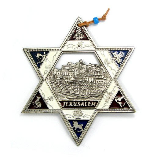 Star of David with Jerusalem Background