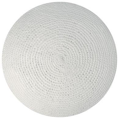 Kippah 6″ – White