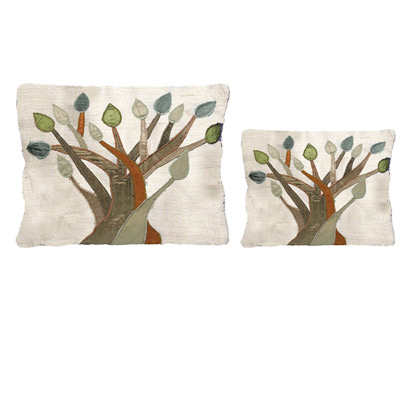 Tree of Life design Raw Silk Tallit and Tefillin Bag