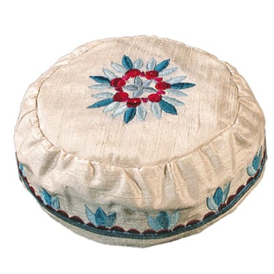 Cream Raw Silk Hat