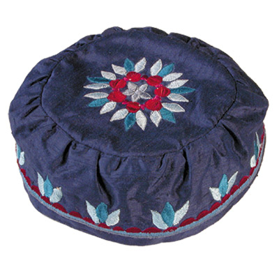 Blue Raw Silk Hat