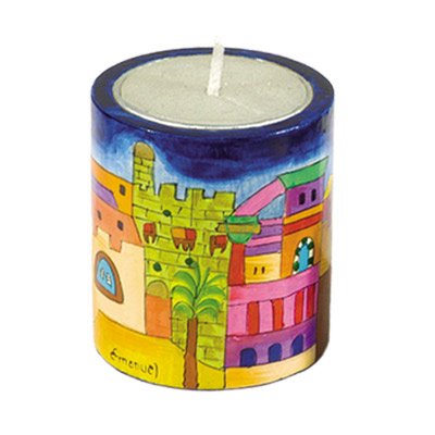 Memorial (Yarhzeit) Candle Holder - Jerusalem Old City design