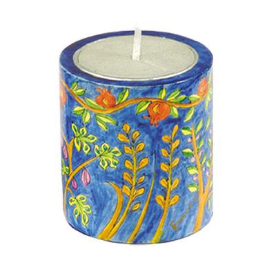 Memorial (Yarhzeit) Candle Holder – Seven Species design