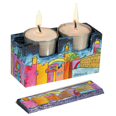 Jerusalem Travel Candlesticks