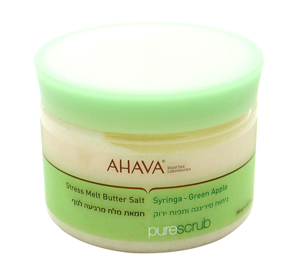 AHAVA Stress Melt Butter Salt Scrub – Green Apple