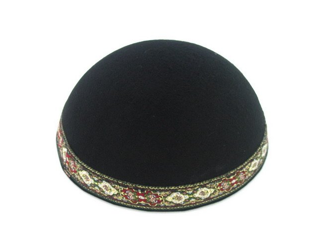 Yemenite Kippah with colorful border