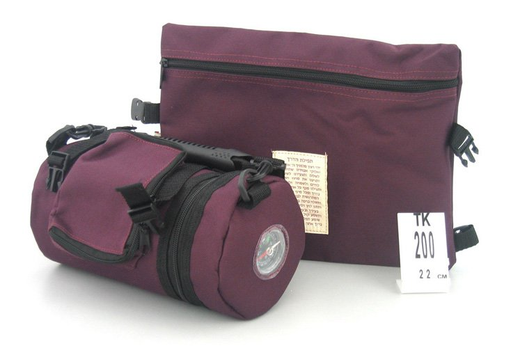 Maroon Tefilin Carrier with Tallit bag