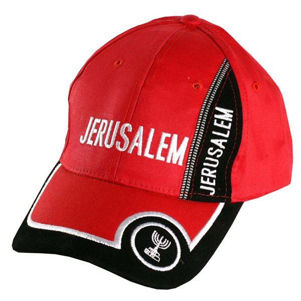Red and Black Jerusalem Baseball cap