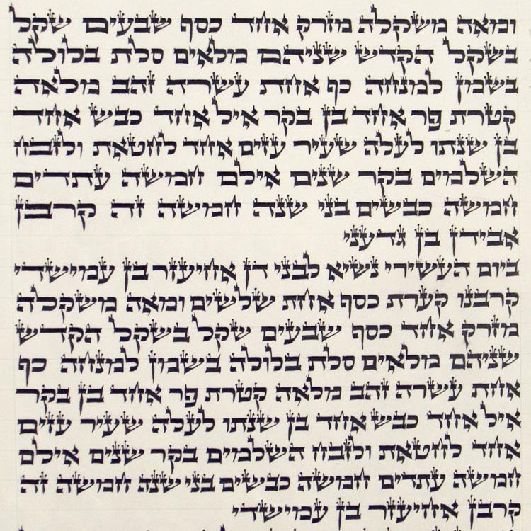 Ashkenaz Torah Scroll – Ktav Beit Yossef