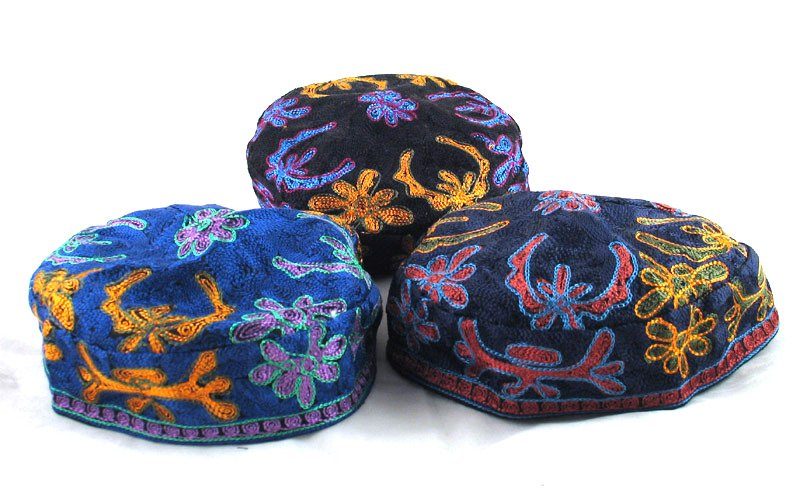 Bucharian Hand Embroidered Kippah – Large