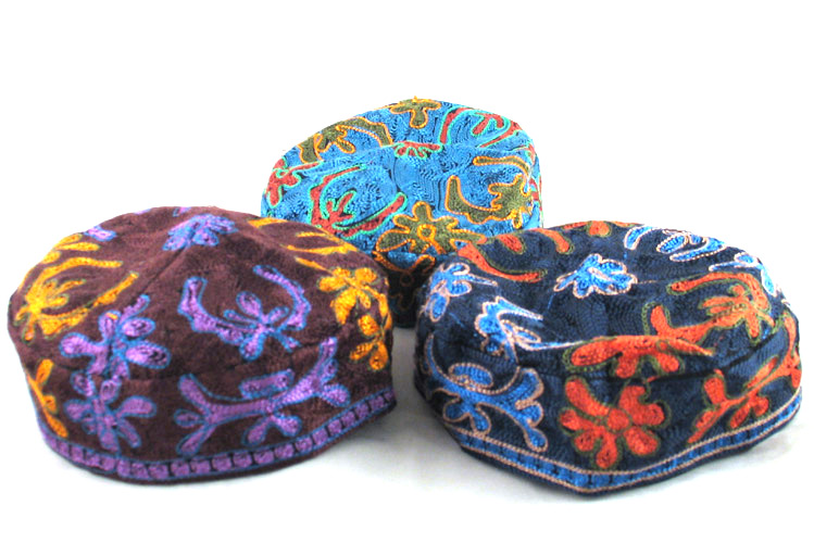 Bucharian Hand Embroidered Kippah – Medium