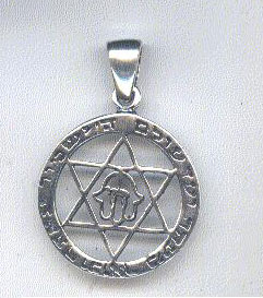 Sterling Silver Pendant – Magen David – Hamsa – Chai