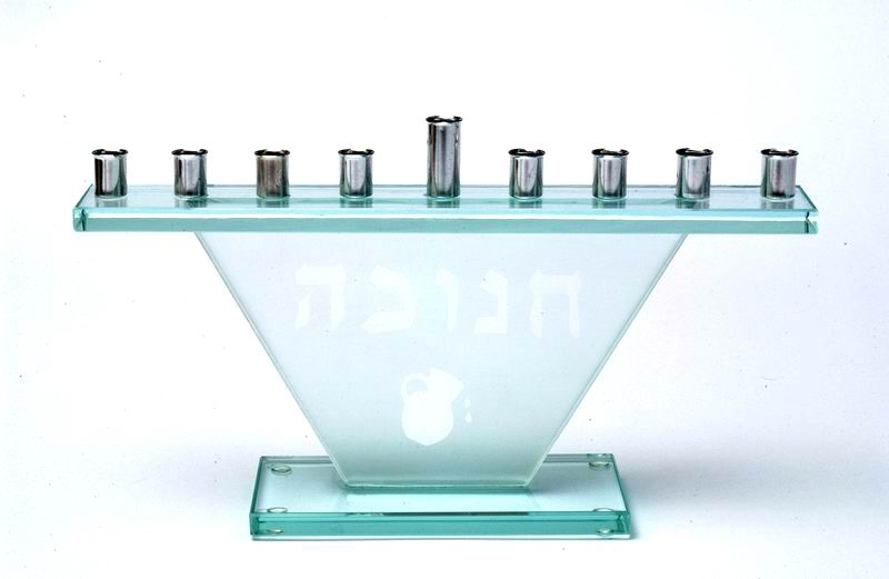 Glass Menorah (Hanukia)