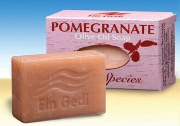 Ein Gedi Natural Hand Made Olive Oil Soap with Pomegranate