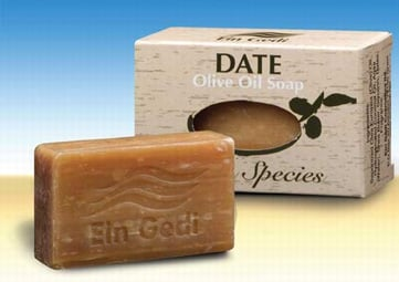 Ein Gedi Natural Hand Made Olive Oil Soap with Dates