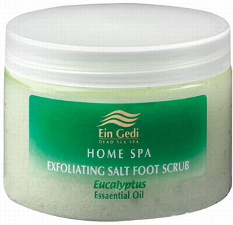 Ein Gedi Home Spa Eucalyptus Salt Foot Scrub