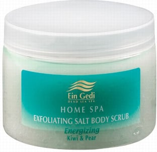 Ein Gedi Home Spa Kiwi and Pear Salt Body Scrub