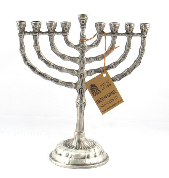 Silver Mezuzot Hannukkah Menorah