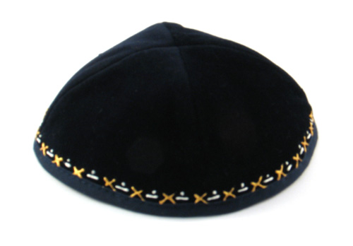 Hand Decorated Velvet Kippahs