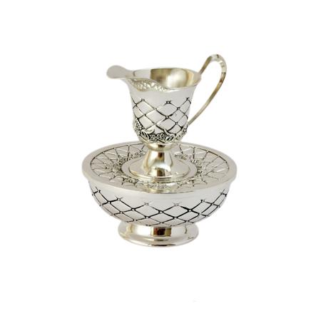 Silver Plated Mayim Achronim Hand Wash Cup