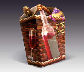 "Purim ""Wine"" Mishloach Manot Box"