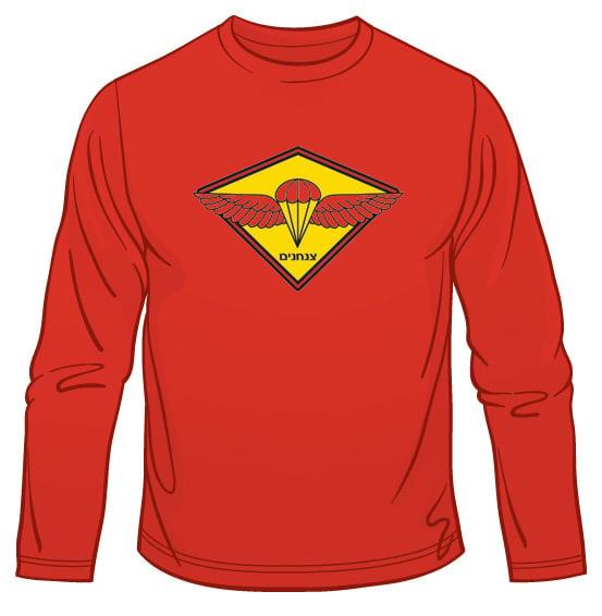 IDF Paratrooper Emblem Long Sleeved T-Shirt