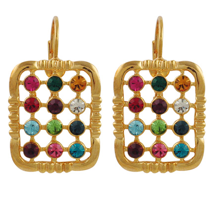 "Gold Lively ""Choshen"" Earrings"