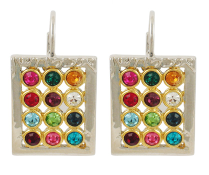 "Colorful Gold ""Choshen"" Earrings"