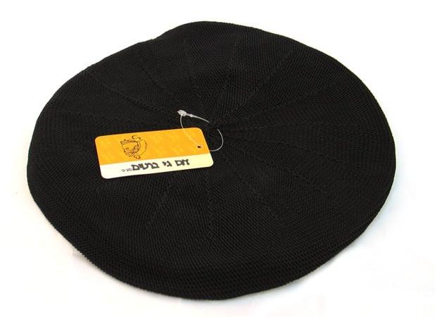 Womens Classic Black Knit Beret