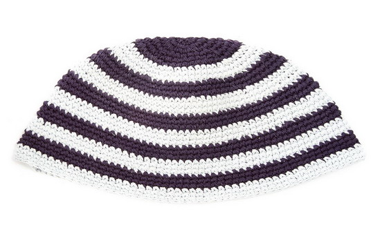 Blue and White Frik Kippah