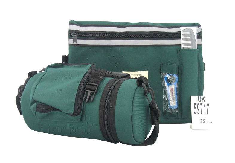 Dark Green Tefillin Carrier with Tallit bag - New