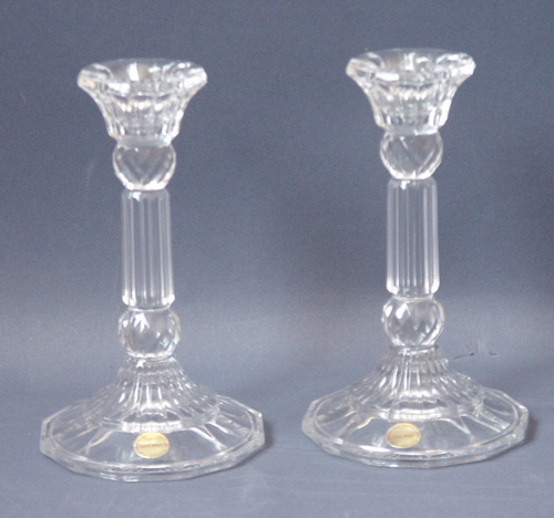 Elegant Glass Candlesticks