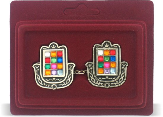 Colorful Hamsa Choshen Tallit Clips