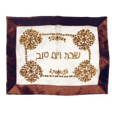 Maroon Challah Cover with Oriental Sequin design