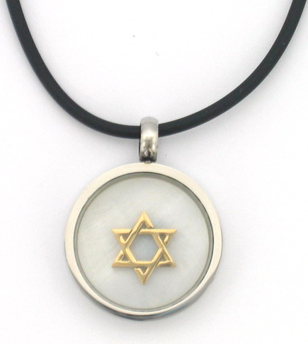 Star of David necklace on Rubber Cord