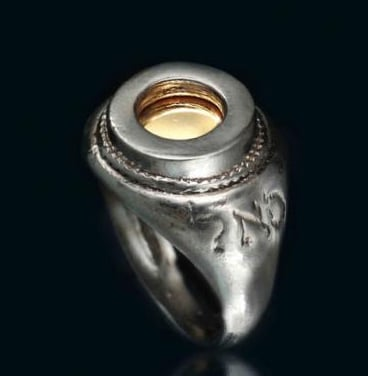 Silver & Gold Five Metal Ring for Bounty and Success