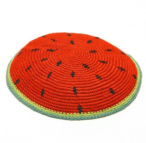 Watermelon Knit Kippot