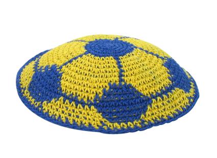 Soccer Ball Knit Kippot