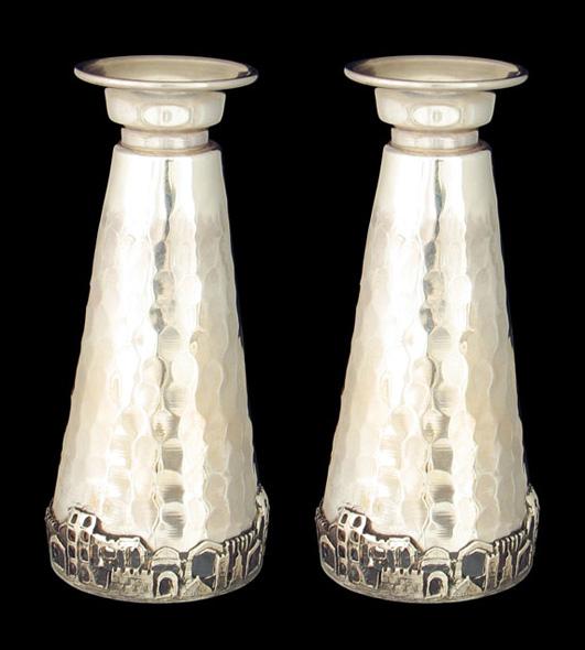 Jerusalem Sterling Silver Candlesticks