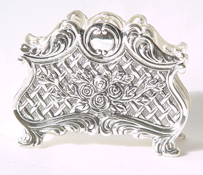 Flower design Silver Plated Napkin Holder