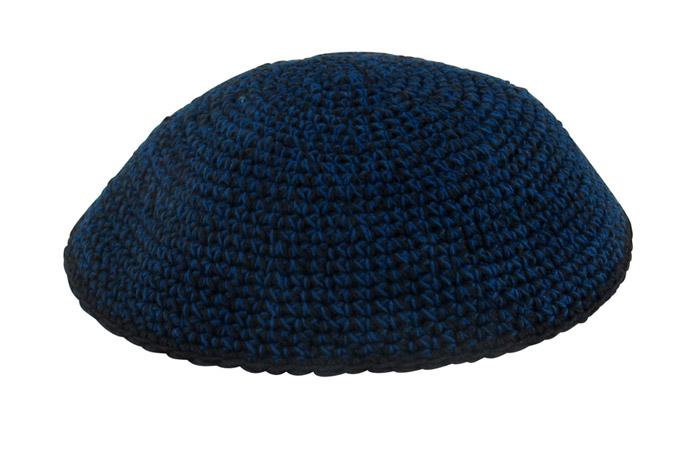 Blue and Black Knit Kippot