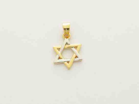 Gold Mini Star of David Pendant