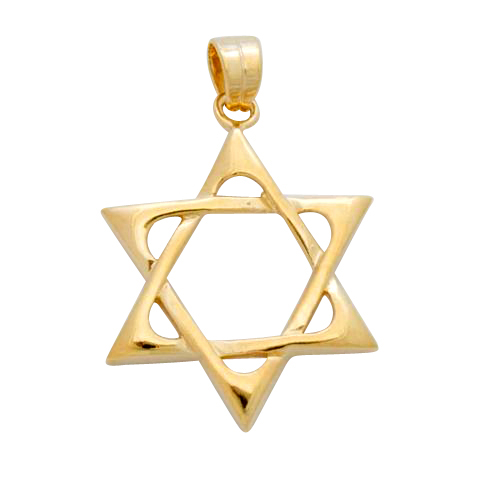 Gold Classic Star of David Pendant
