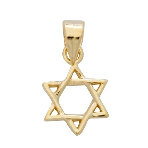 Gold Miniature Star of David Pendant