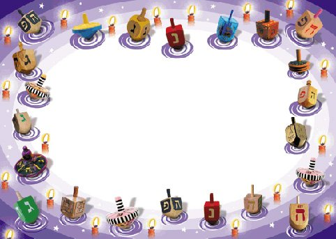 Chanukah Wide Stationery
