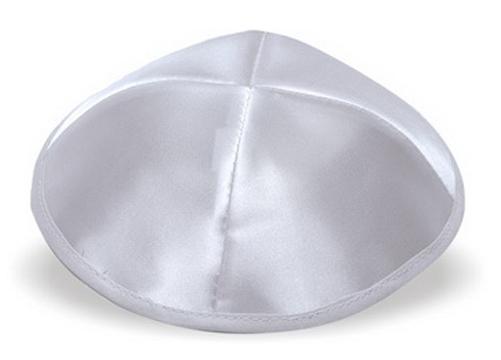 Silver Satin Kippah
