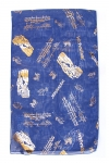 Royal Blue Woman's Head Covering Scarf   Jerusalem