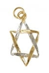 Gold Filled Two Tone Star of David Pendant