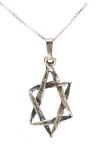 Star of David Pendant in Sterling Silver
